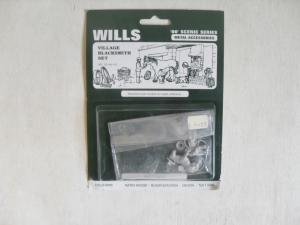 WILLS OO SSAM101 VILLAGE BLACKSMITH SET - METAL