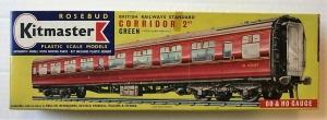 KITMASTER ROSEBUD HO/OO 14 BRITISH RAILWAY STANDARD CORRIDOR 2ND GREEN  SOUTHERN REGION