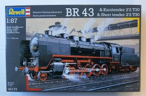REVELL 1/87 02173 HEAVY GOODS LOCOMOTIVE BR 43   SHORT TENDER 2 2 T30