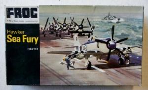 FROG 1/72 F154 HAWKER SEA FURY BLACK BOX