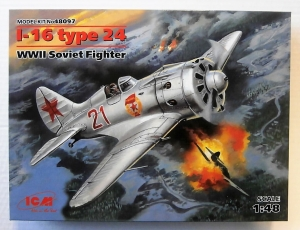 ICM 1/48 48097 I-16 TYPE 24 WWII SOVIET FIGHTER