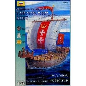 ZVEZDA 1/72 9018 HANSA COG CRUSADER SHIP