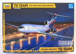 ZVEZDA 1/144 7004 Tu-154M RUSSIAN AIRLINER
