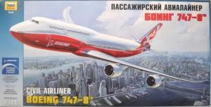 ZVEZDA 1/144 7010 CIVIL AIRLINER BOEING 747-8