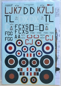 XTRADECAL 1/72 72256 POST WAR AVRO LANCASTER