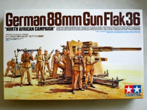 TAMIYA 1/35 35283 88mm GUN FLAK 36 NORTH AFRICA