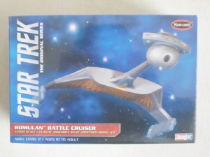 POLAR LIGHTS OTHER SCALE 897 STAR TREK ROMULAN BATTLE CRUISER 1/1000