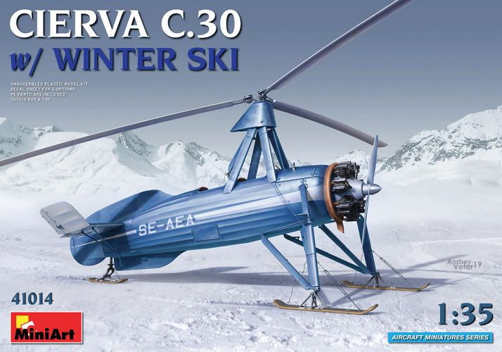 MINIART 1/35 41014 CIERVA C.30 WITH WINTER SKI