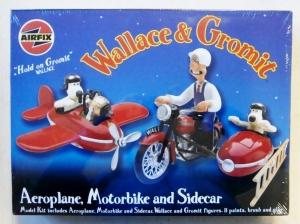 AIRFIX  600301 WALLACE   GROMIT AEROPLANE MOTORBIKE   SIDECAR
