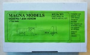MAGNA 1/72 7872 VICKERS F.5/34 VENOM