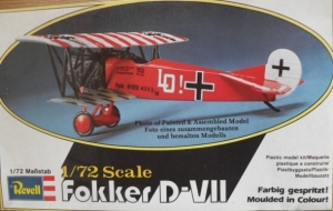 REVELL 1/72 H43 FOKKER D-VII