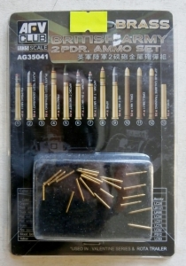 AFV CLUB 1/35 35041 BRITISH ARMY 2 Pdr AMMO SET BRASS