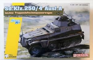 DRAGON 1/35 6878 Sd.Kfz.250/4 Ausf.A LEICHTER TRUPPENLUFTSCHUTZPANZERWAGEN mit ZWILLING MG34