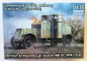 MASTERBOX 1/72 72007 BRITISH ARMOURED CAR AUSTIN Mk.III WWI ERA