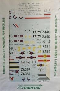 XTRADECAL 1/72 1028. 013-72 TORNADO GR 1   F3 1989 UPDATE