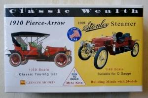 GLENCOE  03609 1/59 PIERCE-ARROW / 1/48 1909 STANLEY STEAMER