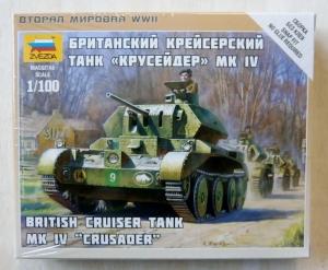 ZVEZDA 1/100 6227 BRITISH CRUISER TANK Mk.IV CRUSADER