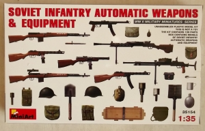 MINIART 1/35 35154 SOVIET INFANTRY AUTOMATIC WEAPONS   EQUIPMENT