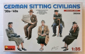 MINIART 1/35 38006 GERMAN SITTING CIVILIANS 30s-40s