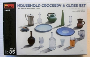 MINIART 1/35 35559 HOUSEHOLD CROCKERY   GLASS SET