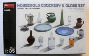 MINIART 1/35 35559 HOUSEHOLD CROCKERY   GLASS SET
