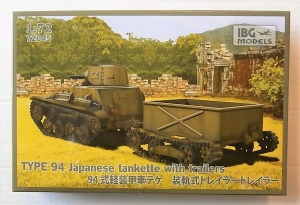 IBG MODELS 1/72 72045 TYPE 94 JAPANESE TANKETTE WITH TRAILER