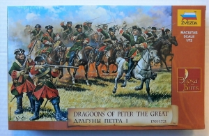 ZVEZDA 1/72 8072 DRAGOONS OF PETER THE GREAT 1701-1721