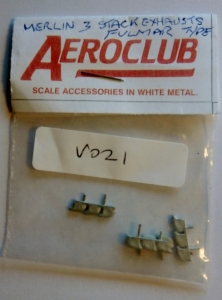 AEROCLUB 1/72 V021 MERLIN 3 STACK EXHAUSTS x 4