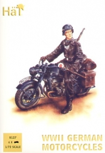 HAT INDUSTRIES 1/72 8127 WWII GERMAN MOTORCYCLE