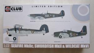 AIRFIX 1/72 50099 SEAFIRE Mk.IIc SWORDFISH Mk.II   WILDCAT Mk.VI
