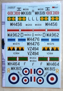 XTRADECAL 1/48 48159 GLOSTER METEOR F.8 COLLECTION PART 2