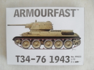 ARMOURFAST 1/72 99022 T34-76 1943