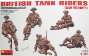 MINIART 1/35 35118 BRITISH TANK RIDERS  NW EUROPE