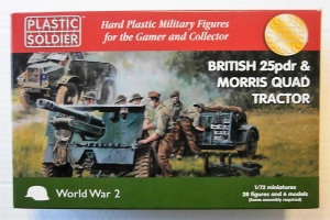 PLASTIC SOLDIER 1/72 WW2G20006 BRITISH 25pdr   MORRIS QUAD TRACTOR