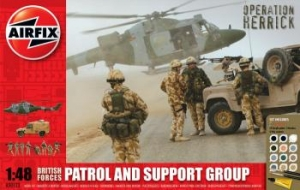 AIRFIX 1/48 50123 BRITISH PATROL   SUPPORT GROUP GIFT SET