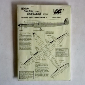 WELSH MODELS 1/144 SL52C LOCKHEED SUPER CONSTELLATION G LUFTHANSA