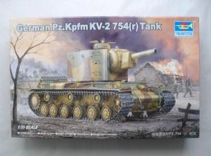 TRUMPETER 1/35 00367 GERMAN Pz.Kpfw KV-2 754 r