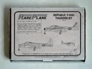 RAREPLANE 1/72 REPUBLIC F-84G THUNDERJET