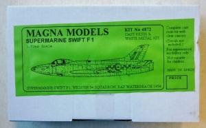 MAGNA 1/72 4872 SUPERMARINE SWIFT F.1