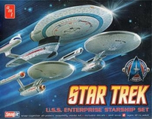 AMT OTHER SCALE 660 STAR TREK USS ENTERPRISE STARSHIP SET 1/2500