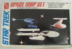AMT OTHER SCALE 6677 STAR TREK SPACE SHIP SET