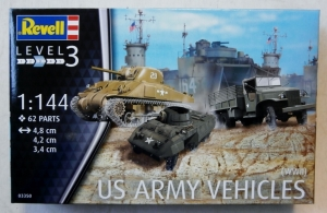 REVELL 1/144 03350 U.S. ARMY VEHICLES WWII
