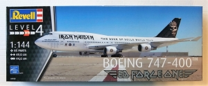 REVELL 1/144 04950 BOEING 747-400 IRON MAIDEN ED FORCE ONE