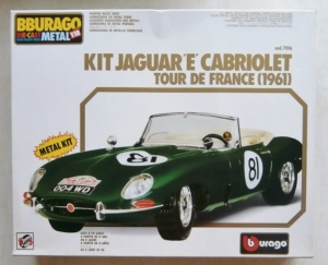 BURAGO 1/18 7016 JAGUAR E CABRIOLET TOUR DE FRANCE  1961  METAL PARTS