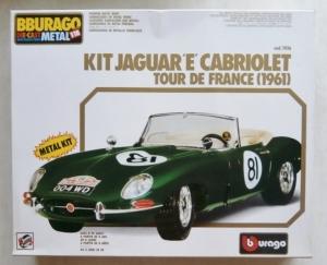BURAGO 1/18 7016 JAGUAR E CABRIOLET TOUR DE FRANCE  1961  METAL PARTS