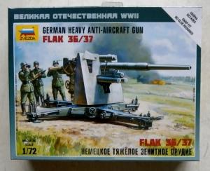ZVEZDA 1/72 6158 GERMAN 88mm FLAK 36/37