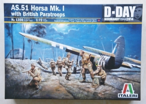 ITALERI 1/72 1356 AS.51 HORSA Mk.I WITH BRITISH PARATROOPS