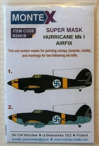 MONTEX 1/24 24018 HURRICANE Mk.I SUPER MASK FOR AIRFIX