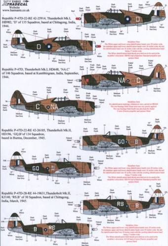 XTRADECAL 1/48 48115 Yanks with Roundels Part 4