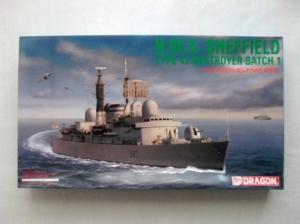 DRAGON 1/700 7016 HMS SHEFFIELD TYPE 42 DESTROYER BATCH 1